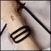 Suede Line Bracelet (Black)