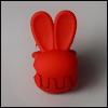 Mini Rabbit Pin (Red)