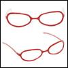 MSD -  Shape Steel Lensless Frames (Red)
