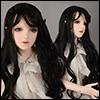 (13-14) Erica Long bang Wig (Black)