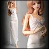 Model doll size - Long Slim Line Slip (White)