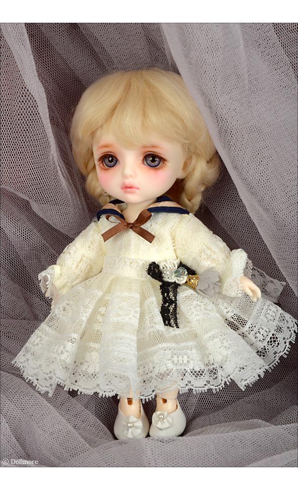 Bebe Doll Size - Serasera Dress Set (Navy+Cream)