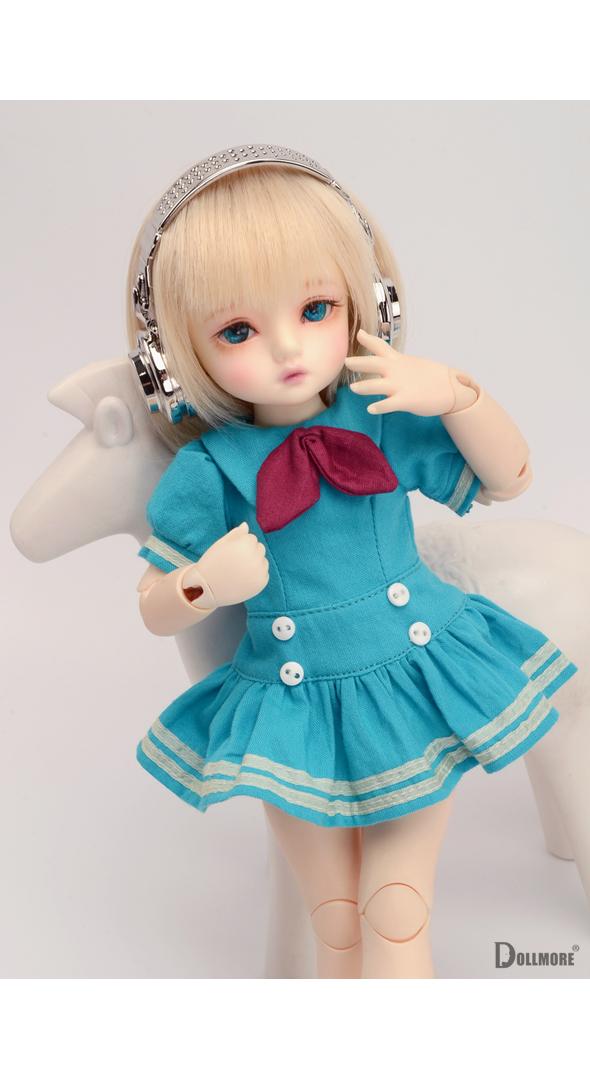 (선주문) Dear Doll Size - Simon Sailor Dress (Sky Blue)