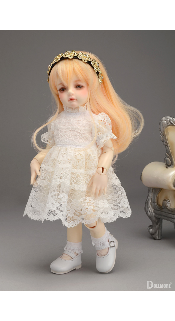 (선주문) Dear Doll Size - Shaa Dress (Pink Dot)