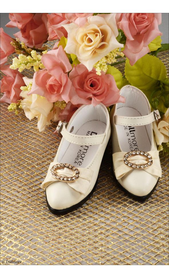 Illua Doll Shoes -  Jewellery Shoes (Ivory)