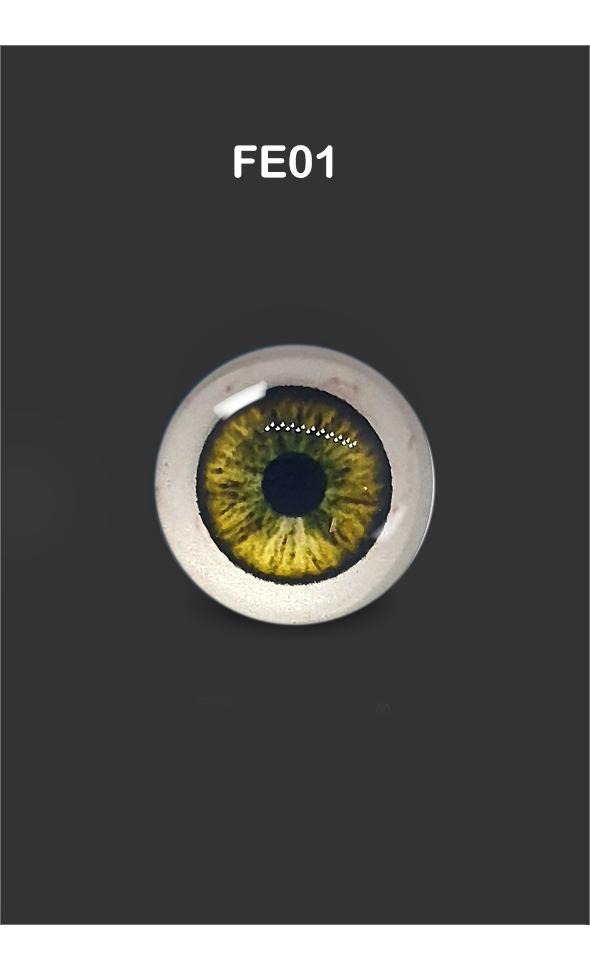 12mm - Omga Flat Round Glass Eyes (FE01)