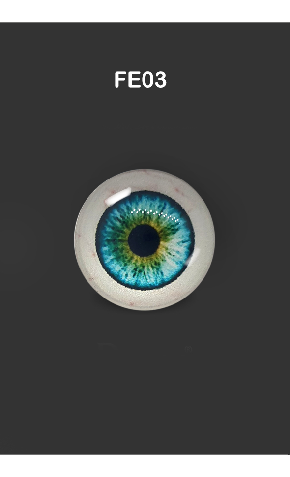 12mm - Omga Flat Round Glass Eyes (FE03)