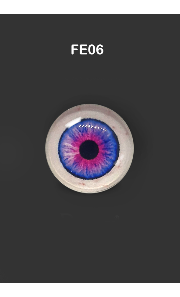 12mm - Omga Flat Round Glass Eyes (FE06)