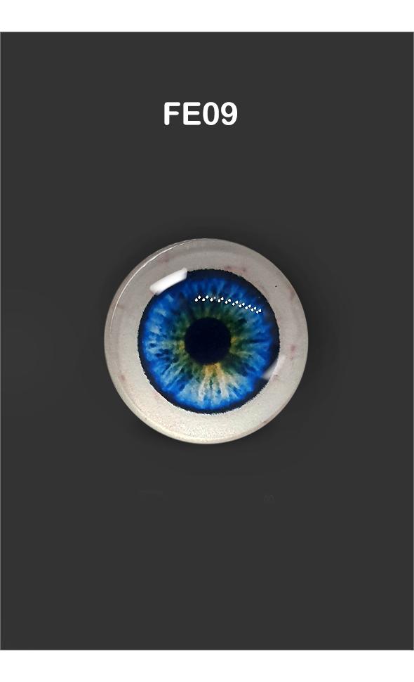 12mm - Omga Flat Round Glass Eyes (FE09)