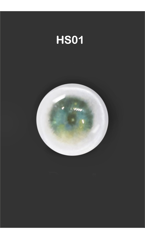 12mm Painting Flat Round Glass Eyes (HS01)